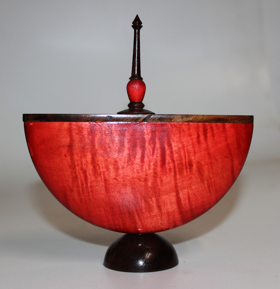 Red split bowl